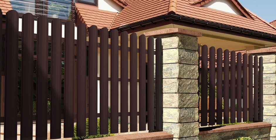 Забор из штакетника Аluzinc