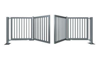P2 металлические складные ворота