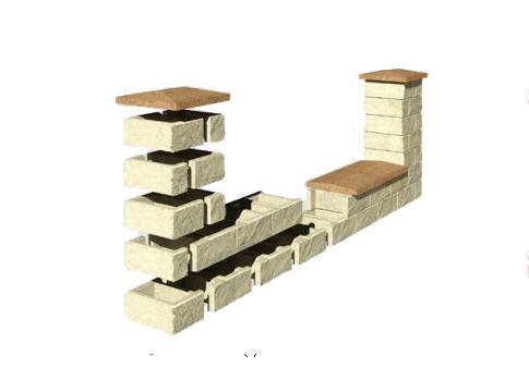 Колотые заборные блоки
