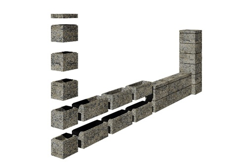 Бетонные блоки RO