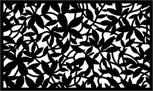 Индивидуальный забор листья