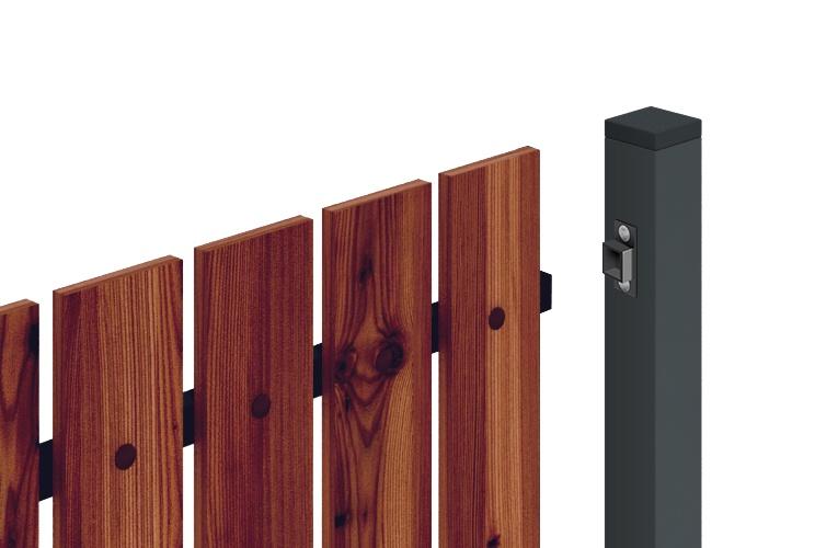 монтаж деревянного забора