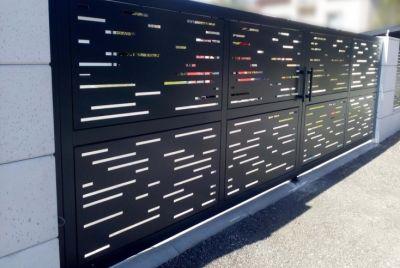Современный забор РВ01