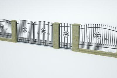 Заборные блоки из 1 ряда