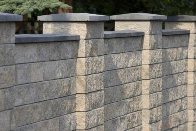 Песочный бетонный забор