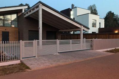 Современный забор PP111