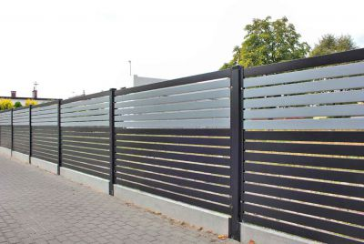 Забор с имитациуй цвета
